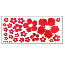 compare prices on blossoming flower wall sticker online shopping red flower blossom pvc plane wall stickers for diy home kitcken decoration bedroom wall door window