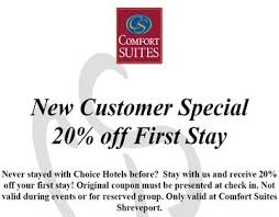 Comfort Suites Coupons Download Coupons
