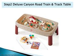 step2 deluxe canyon road train and track table with lid kids train table
