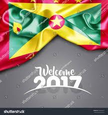 Grenda Flag Royalty Free Welcome 2017 Grenada Flag On Texture U2026 508505227