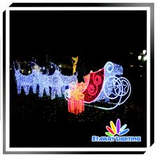 Christmas Decorations Outdoor Santa Sleigh by Christmas Santa Sleigh With Reindeer For Event And Show Christmas