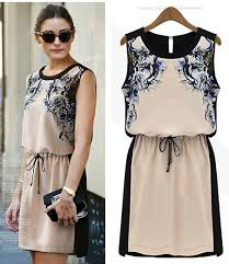 print dresses fashion 2013 summer female vestidos chiffon casual