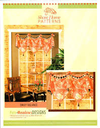 Home Patterns by Window Sewing Patterns Window Treatments Valance Pattern Pate