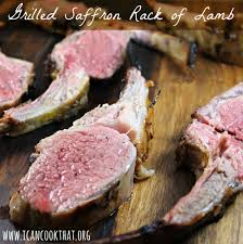 Rack Of Lamb On Grill Grilled Saffron Rack Of Lamb Recipe Vzwfoodies I Can Cook That