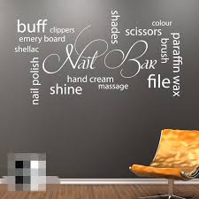 amazon com fawer nail bar collage wall art picture vinyl sticker amazon com fawer nail bar collage wall art picture vinyl sticker hair beauty salon home kitchen