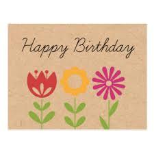 happy birthday postcards flower birthday postcards zazzle au