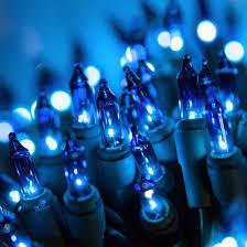 lights 50 blue mini lights 4 spacing