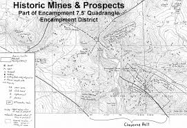 Map Of Wyoming And Colorado by The Encampment Mining District In The Sierra Madre In South