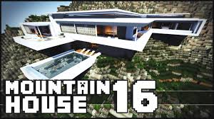 minecraft modern mountain house 16 youtube