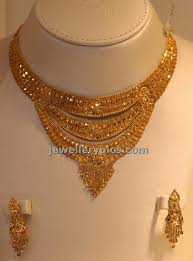 necklace design gold images Kolkatta design gold necklace with three simple steps latest jpg