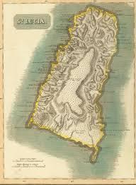 Saint Lucia Map St Lucia Colony