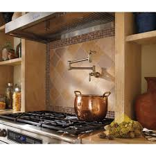 delta faucet 1177lf cz traditional champagne bronze pot filler