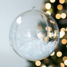 clear acrylic fillable ball ornament large for weddings events