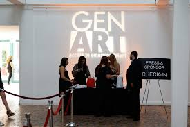 new image productions projected gen art u0027s logo onto the wall