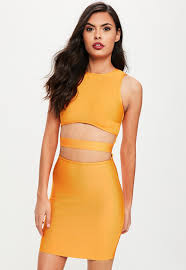 cut out dress orange bandage cut out dress missguided