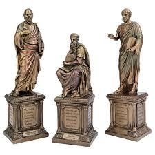 plato socrates u0026 aristotle philosophers statues set