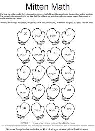 mitten math multiplication worksheet printables for kids u2013 free