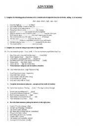 english worksheets the adverbs worksheets page 64