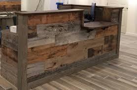 Custom Made Reception Desk Hand Made Custom Barn Wood Reception Desk By Defiance Hardwood
