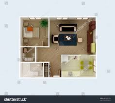 plan view house clear 3d interior stock illustration 46207261