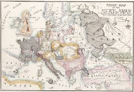 King Of Prussia Map 1854 Clipping The Russian Bear U0027s Claws