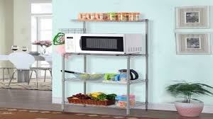 langria 3 tier kitchen microwave oven bakers rack with shelves 132