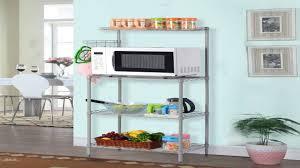 3 Shelf Wire Rack Langria 3 Tier Kitchen Microwave Oven Bakers Rack With Shelves 132