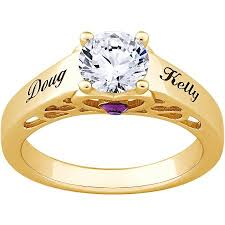 gold promise rings personalized gold sterling silver s name birthstone