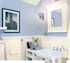 Beadboard Bathroom Wall Cabinet by Dazzling Light Blue Bathroom Paint With White Beadboard Paneling