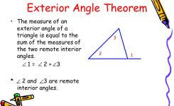 exterior and remote interior angles of a triangle worksheet