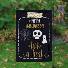 trick or treat personalized halloween garden flag halloween