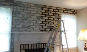 best way to paint red brick fireplace grey or white wash u0026 what
