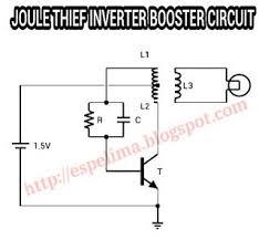 joule thief inverter 1 5v to 220v ac light skema circuit