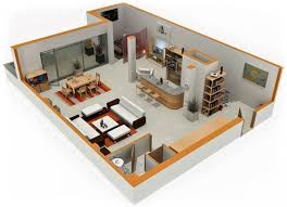 the studio400 plan is a single room modern guest house plan with a studio apartment floor plans