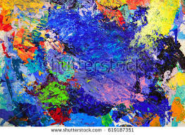 abstract colorful painting faces stock illustration 384107989