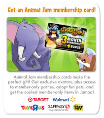 animaljam gift card animal jam spirit sprout the animal jam info