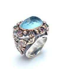 inel din argint 925 lucrat manual cu pietre semipretioase cuart