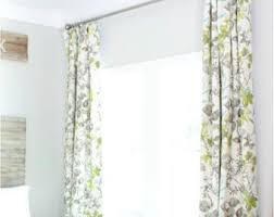 Grey And Green Curtains Botanical Curtains Etsy