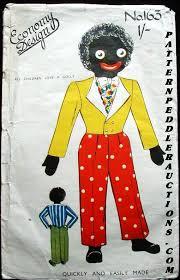 felt golliwog pattern 1940 s golliwog economy design sewing pattern clothes for the