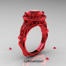 ruby engagement rings caravaggio 14k gold 3 0 ct ruby engagement ring wedding ring