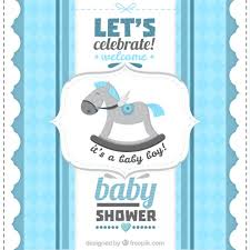 baby shower boy retro baby shower card for a boy vector premium