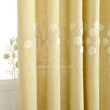 Yellow Bedroom Curtains Embroidered Floral Pattern Yellow Bedroom Curtains