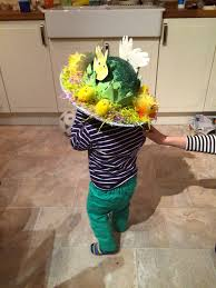 Easter Hat Decoration Ideas by A Colourful Easter Bonnet Made By A Toddler Oh Little One Sweet