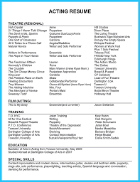 Talent Resume Examples by Cover Letter Talent Resume Example Actors Resume Example No