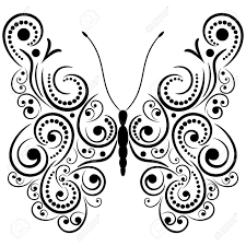 abstract pattern butterfly exotic butterfly abstract patterns eps8 vector graphics royalty