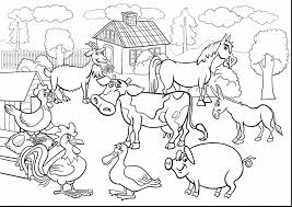 excellent farm animal coloring pages with farm coloring page