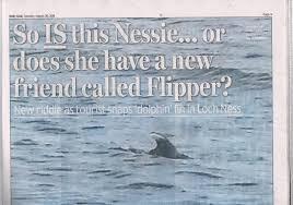 loch ness monster that dorsal fin photograph