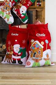 christmas personalized personalized santa bags this idea santa leaves the