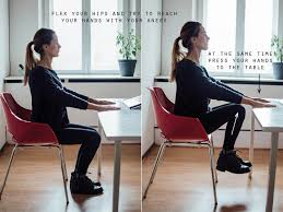 how to exercise while sitting at your desk 6