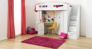Childrens Bedroom Desks Bunkbeds With Desk With Hand Print Fun Kids Furniture Bunk Beds